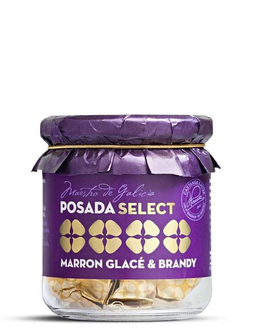 Marron glacé & brandy tarro vidrio 150 g