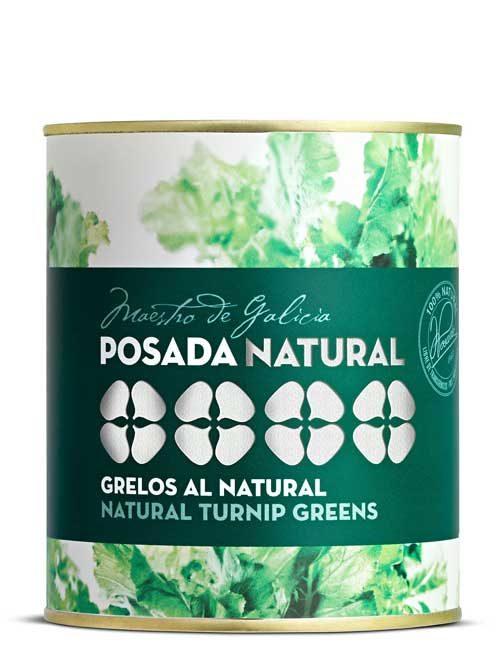 Grelos al natural lata fácil apertura 520 g