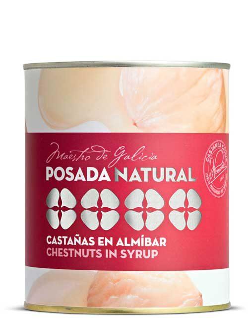 Castañas en almibar lata fácil apertura 650 g