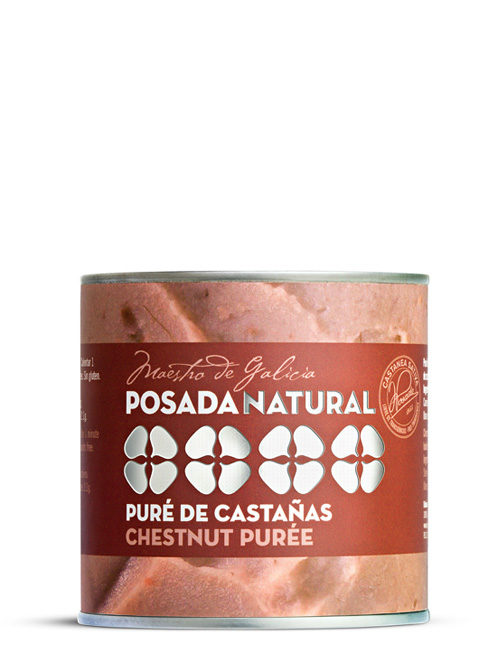 Posada Pure de castaña lata de facil apertura 400 g